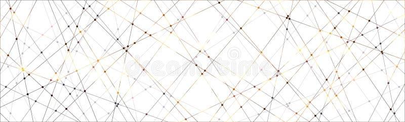 线和光点图形背景 库存图片