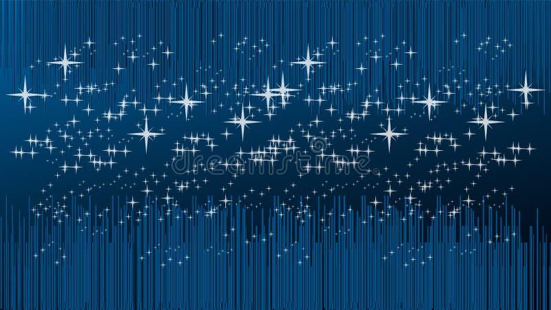 线和星、宇宙和技术背景 皇族释放例证