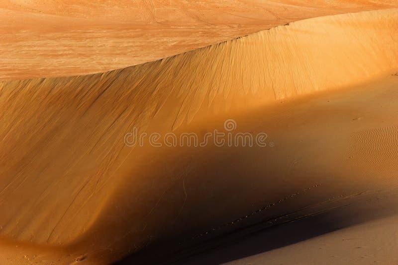 线和纹理在沙漠 免版税库存图片