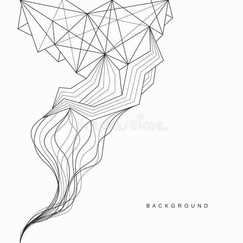 线和面孔几何抽象背景  皇族释放例证