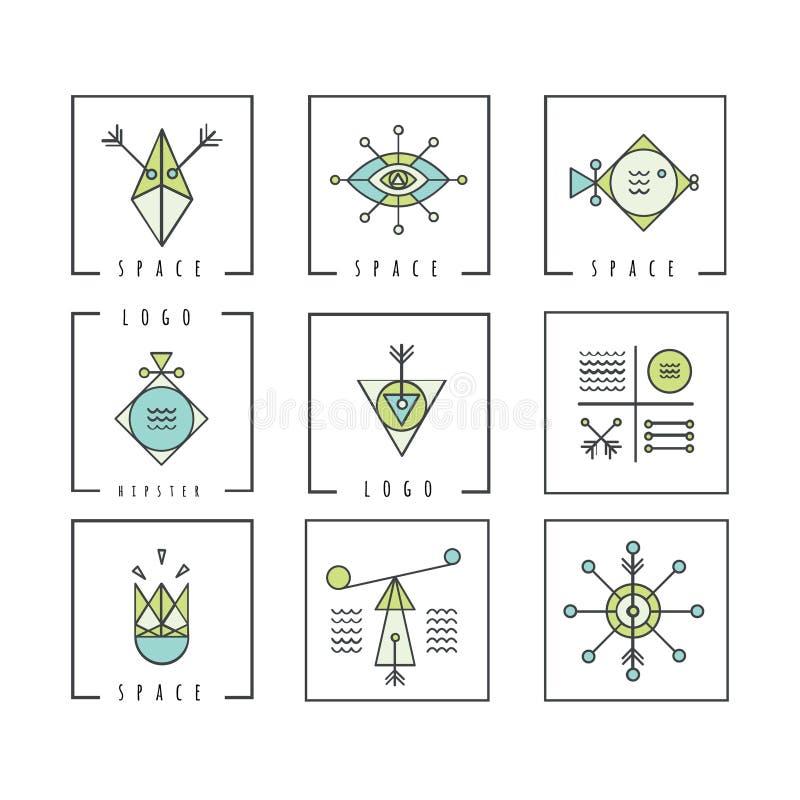 线形几何 方术,宗教,哲学, spiritualit 皇族释放例证