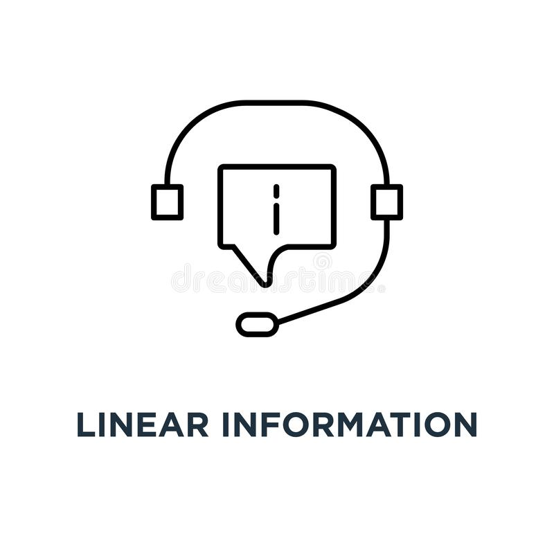 线性信息支持象、标志等高样式趋向现代24/7热线或者crm略写法形象艺术设计观念  库存例证