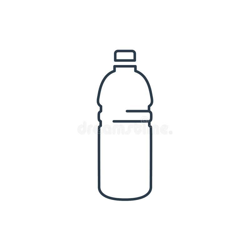 线性塑料瓶象 皇族释放例证