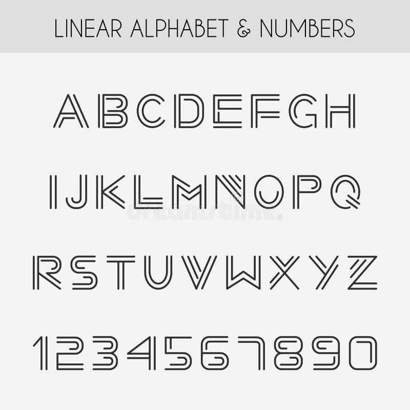 线性字体 皇族释放例证