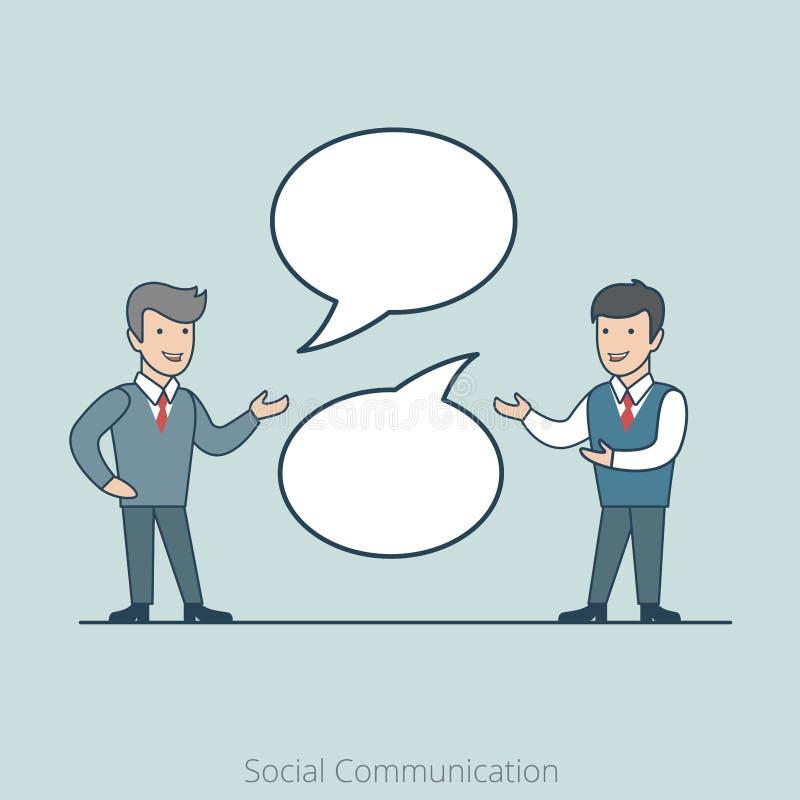 线性平的社会通信商人闲谈 向量例证