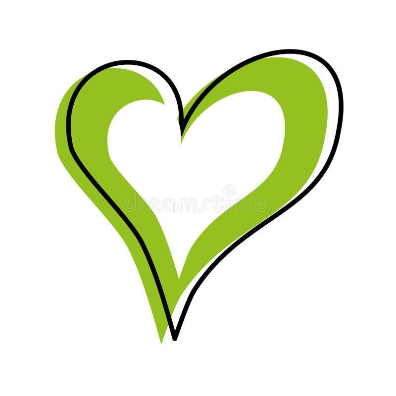 线性心脏爱浪漫史激情 库存例证
