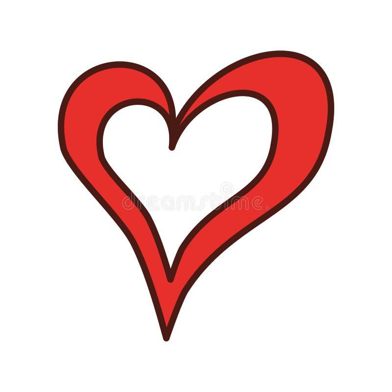 线性心脏爱浪漫史激情 皇族释放例证