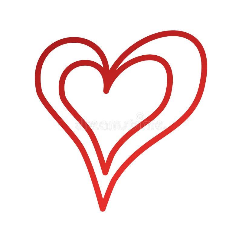 线性心脏爱浪漫史激情 向量例证