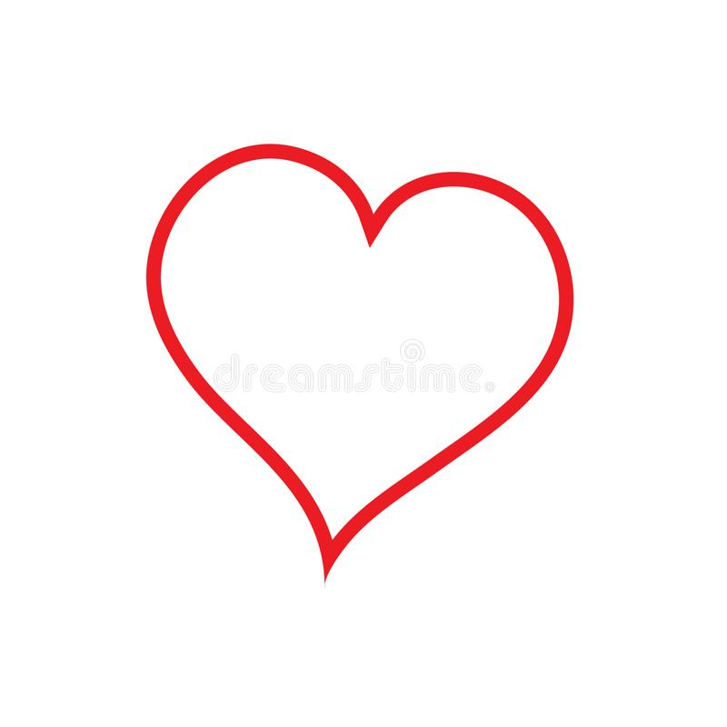 线性心脏象,导航线性象稀薄的红线 E 皇族释放例证