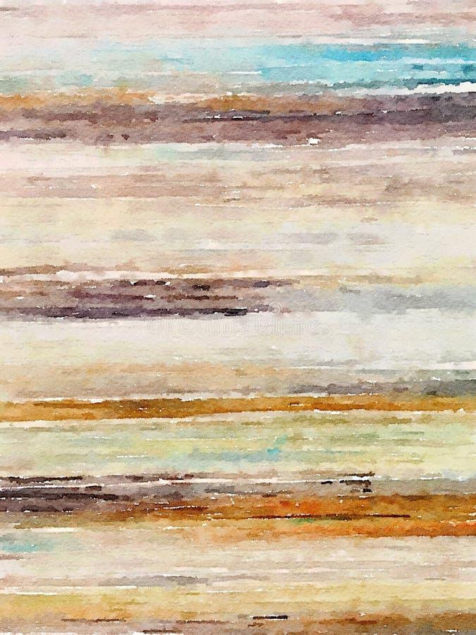 线性抽象水彩最低纲领派墙壁艺术 库存图片