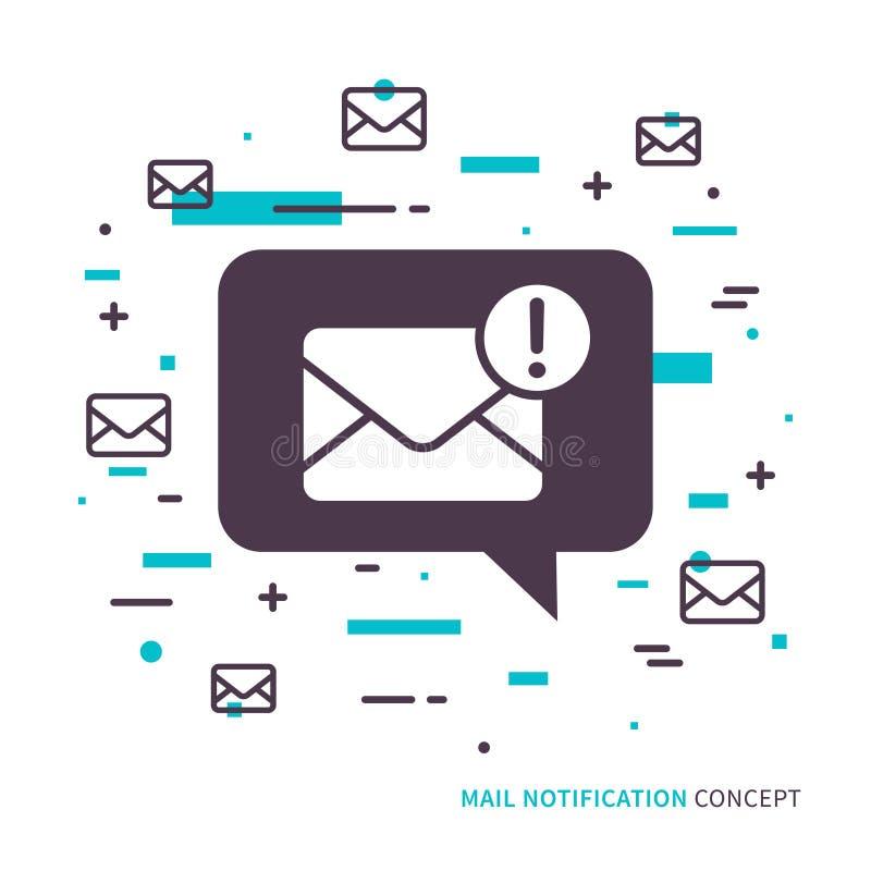 线性流动邮件通知 向量例证