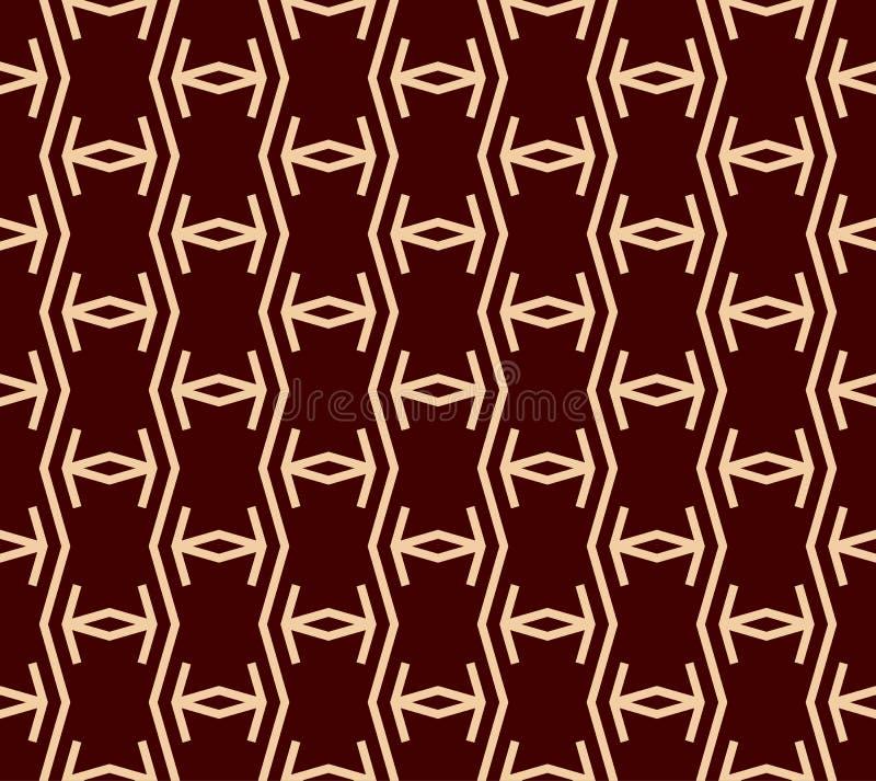 r r 线性装饰品无缝的样式 E 向量例证