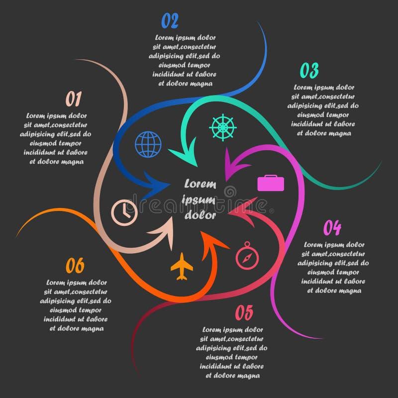 线性infographics 皇族释放例证