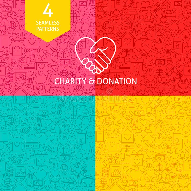 线慈善捐赠样式 向量例证
