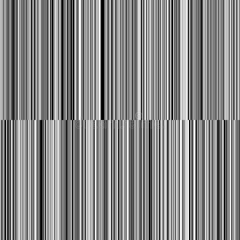 线易变的厚度黑白垂直线背景 库存例证