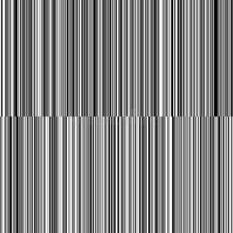 线易变的厚度黑白垂直线背景 库存照片