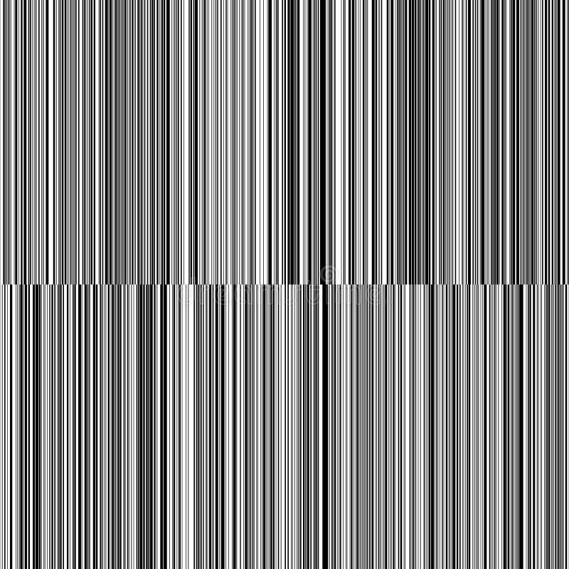 线易变的厚度黑白垂直线背景 库存图片