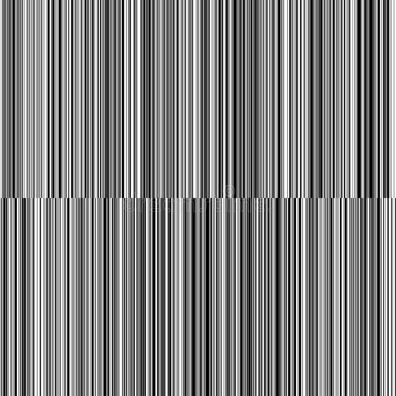 线易变的厚度黑白垂直线背景 免版税库存照片