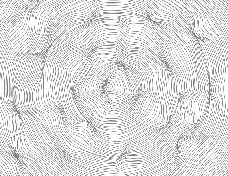 线是波浪回合,卵形抽象黑暗 传染媒介纹理椭圆样式,被隔绝的白色背景 能躺在 库存例证