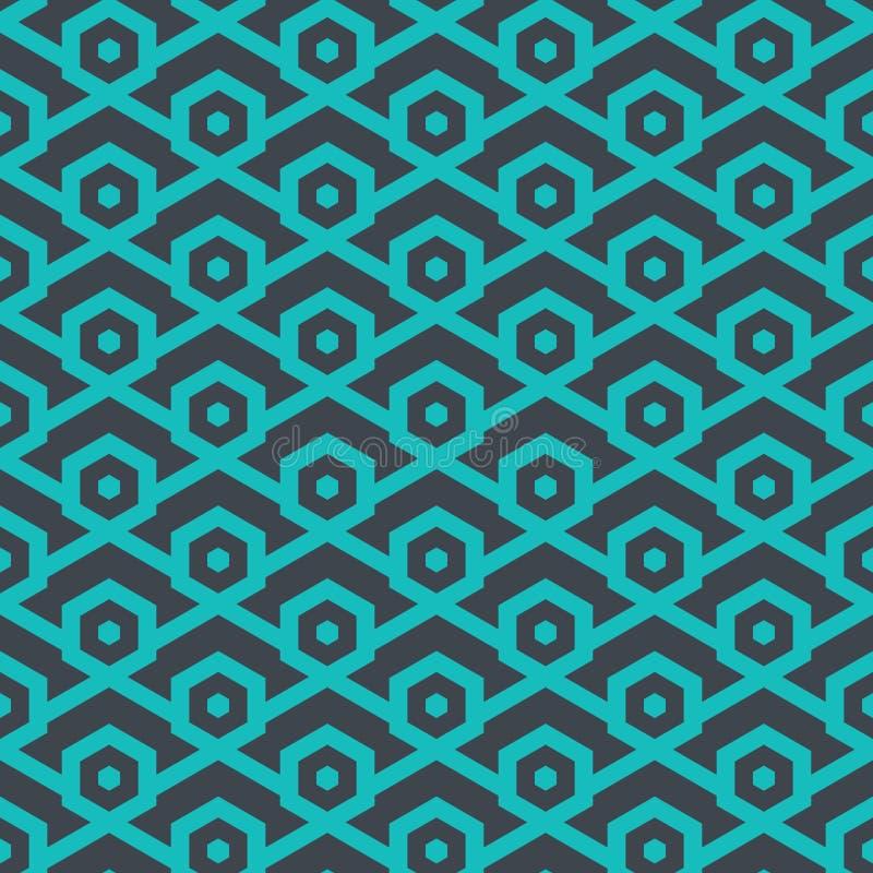 从线的无缝的几何样式和六角形-导航eps8 皇族释放例证