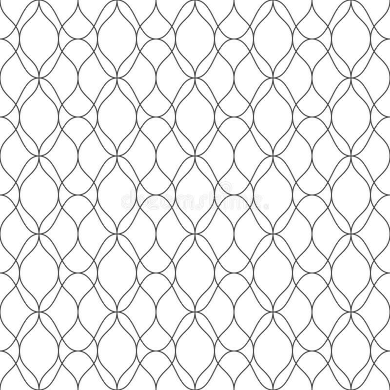 线的无缝的样式 几何条纹背景 皇族释放例证