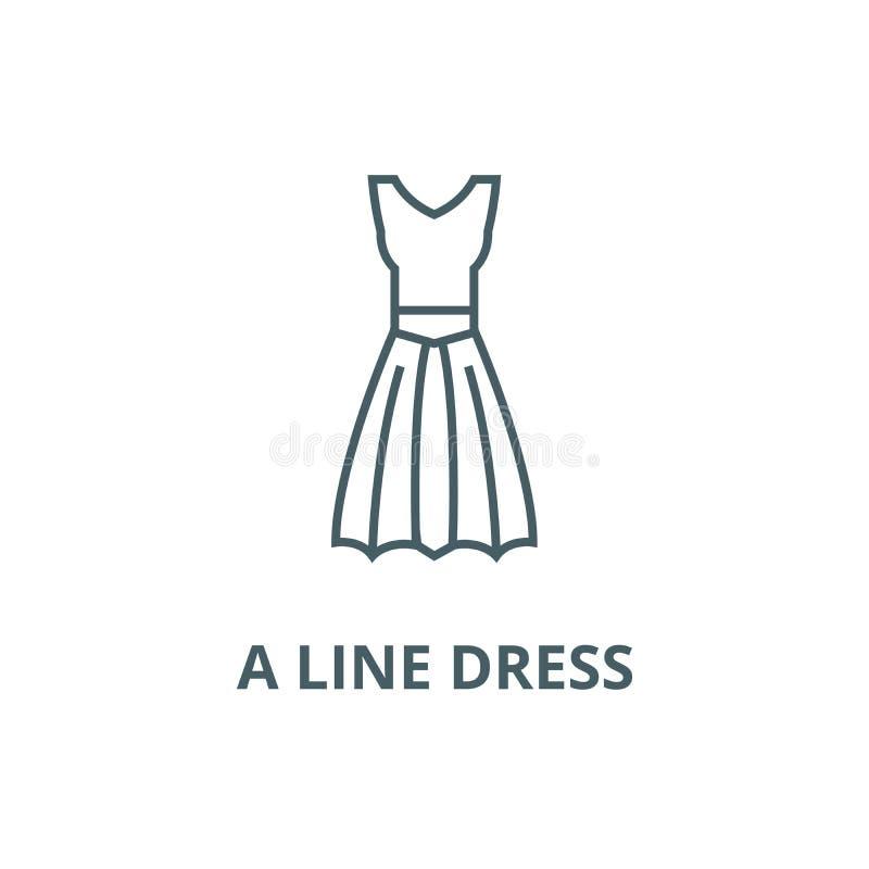 线礼服线象,传染媒介 线礼服概述标志,概念标志,平的例证 向量例证
