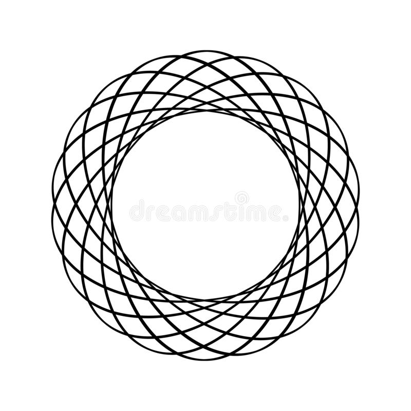 线艺术与黑线艺术商标圈子框架的名片 时髦例证 被隔绝的传染媒介设计 手拉的集合 向量例证
