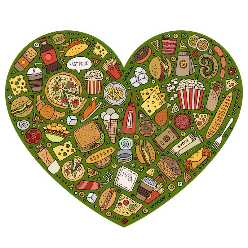 插画 包括有 滑稽, 生活方式, 要素, 设计, 汉堡包, 薄饼, 乐趣图片