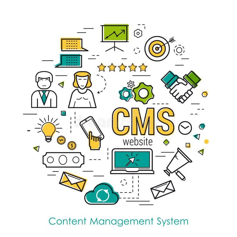 线艺术概念- CMS 向量例证