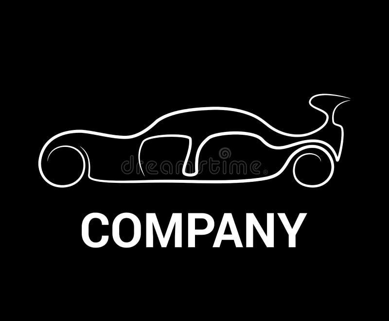 线艺术汽车商标 向量例证