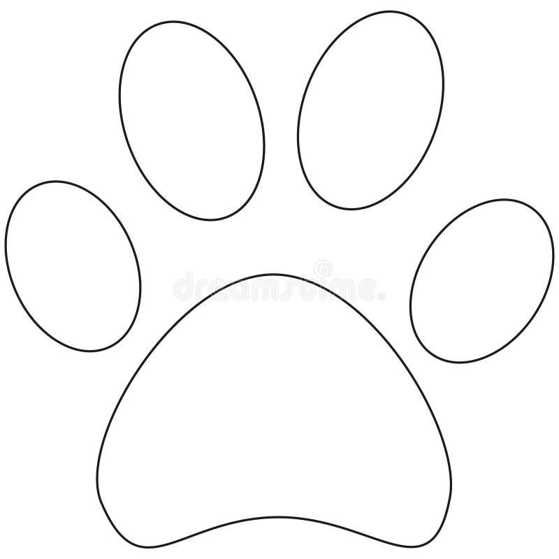 线艺术猫爪子脚印象海报