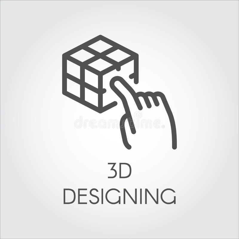 黑线象设备真正塑造的数字模仿技术未来 库存例证