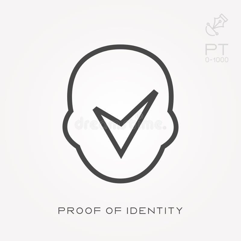 线象身份证明 库存例证