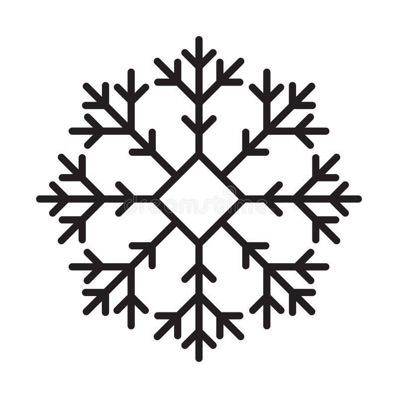 线象雪 向量例证
