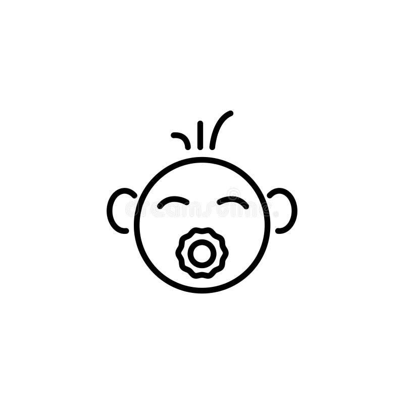 线象 婴孩安慰者 向量例证