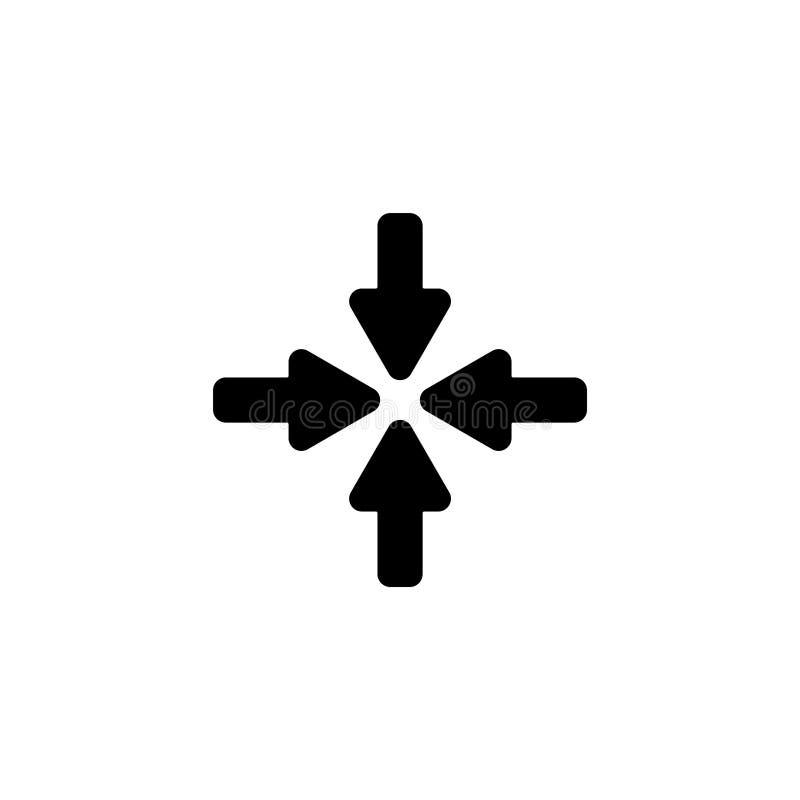 线象 箭头四 向量例证