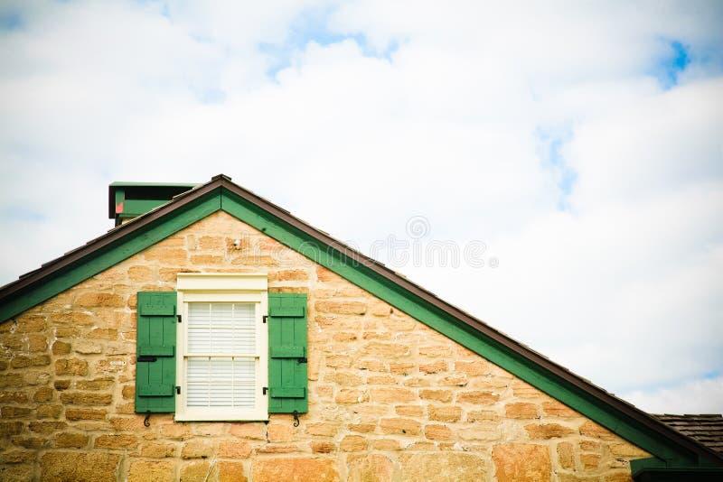 线路屋顶天空视窗 库存照片