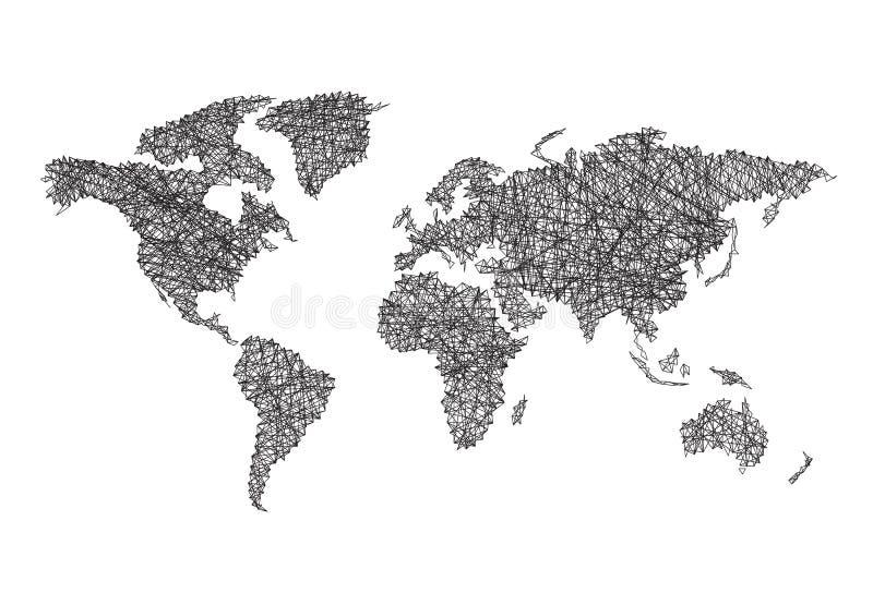 线路映射世界万维网 皇族释放例证