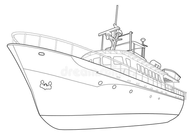 线路游艇 向量例证
