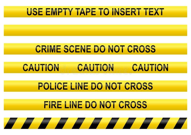线路警察磁带 向量例证