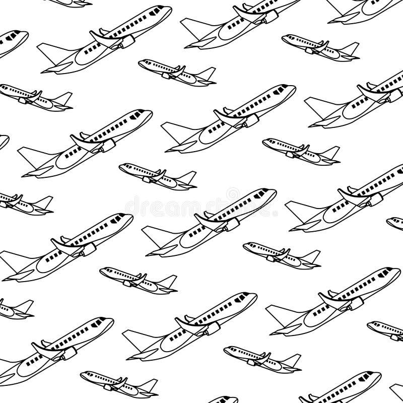 线路边旅行飞机运输背景 向量例证