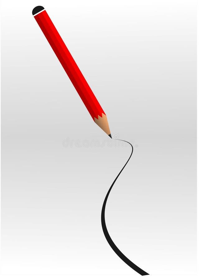 线路铅笔 向量例证