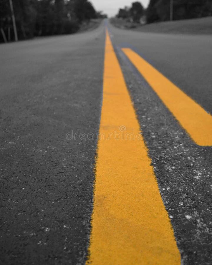 线路黄色 图库摄影