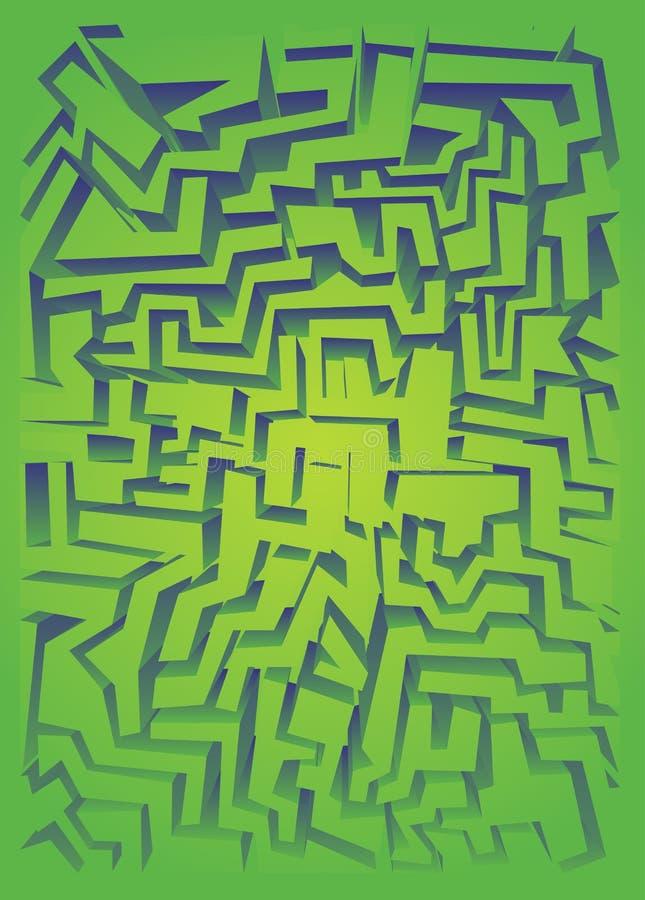 绿线迷宫 向量例证