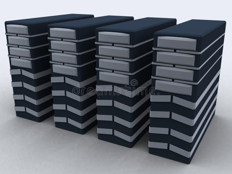 组个人计算机 库存例证