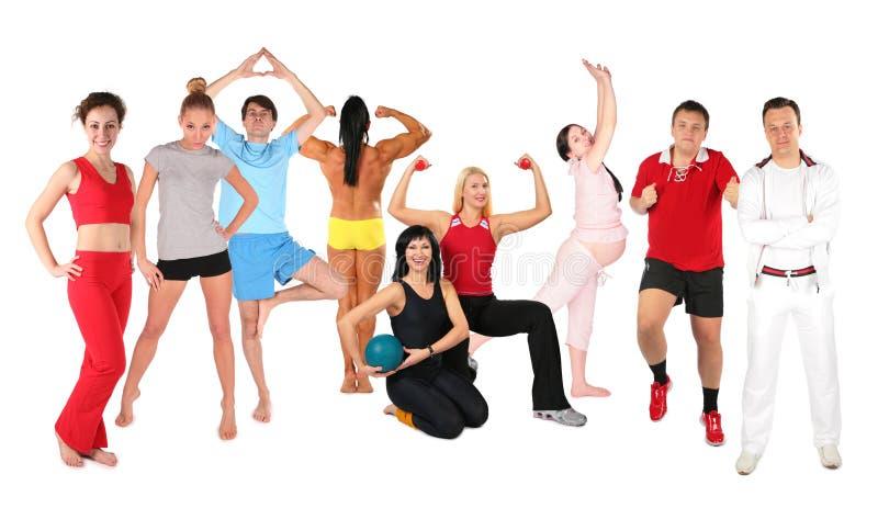 组人体育运动 库存照片