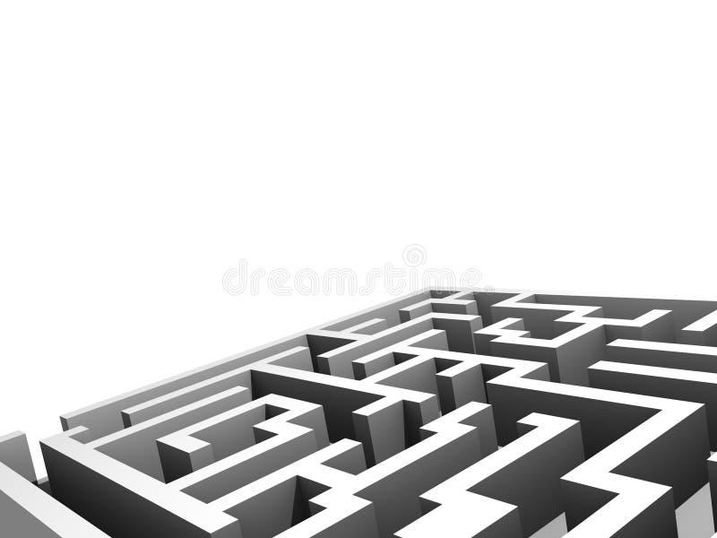组件设计迷宫 库存例证
