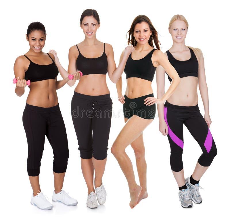 组健身妇女 库存图片