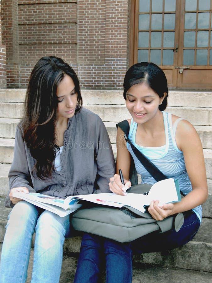 组印第安大学生。 免版税库存图片