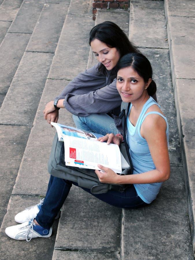 组印第安大学生。 免版税库存照片